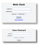 WebClock-Panel